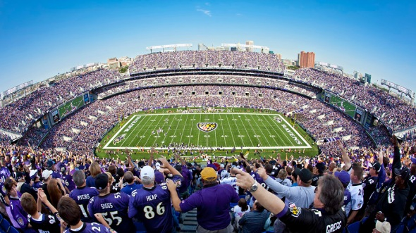 I spent the entire 2nd quarter shooting some different panoramics on the stadium to be sold on the new Ravens online photos store. This was my favorite.